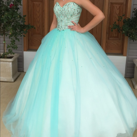 Fiesta Gowns by House of Wu Dresses   Teal Ball Gown   Poshmark